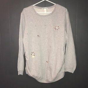 H&M maternity sweatshirt pullover with jewels